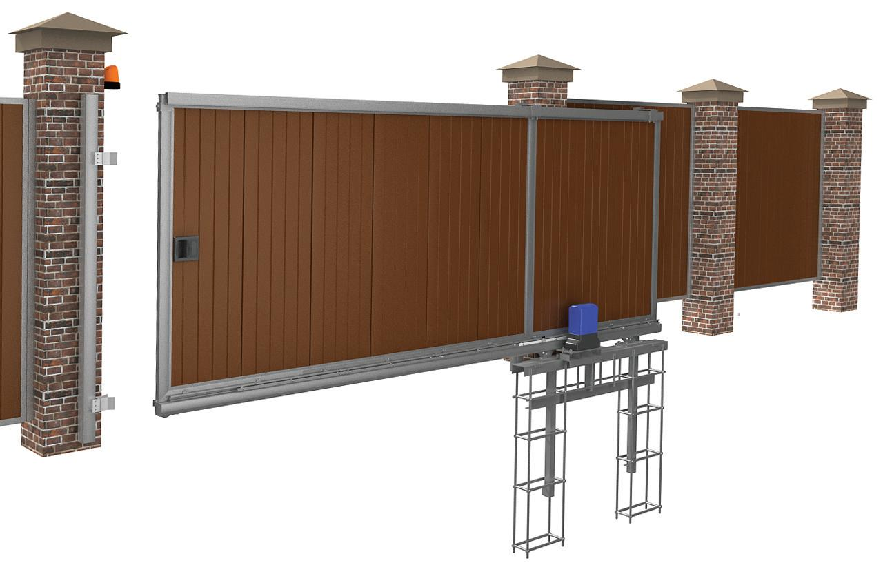 Автоматика для откатных ворот - конструкция откатных ворот с автоматикой