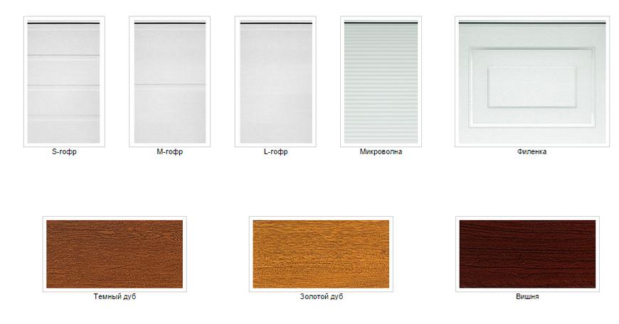 Типы панелей и цвета гаражных ворот Алютех Classic и Алютех Standard
